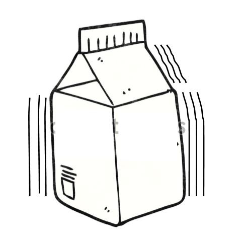 A milk carton vibrating back and forth